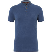 Brave Soul Men's Julius Polo Shirt - Vintage Blue Marl