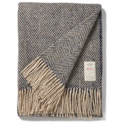 Avoca Heavy Herringbone Throw - Navy - 142 x 183cm