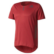 adidas Men's Adizero Running T-Shirt - Burgundy