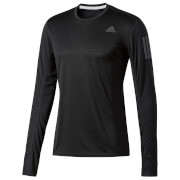 adidas Men's Response Long Sleeved Running Top - Black