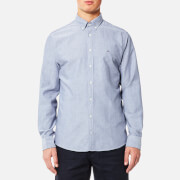 Tommy Hilfiger Men's Engineered Oxford Long Sleeve Shirt - Estate Blue