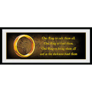 Lord of the Rings One Ring - 30 x 12 Inches Framed Photograph