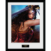 Wonder Woman Defend - 16 x 12 Inches Framed Photograph