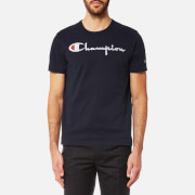 Champion Men's Large Chest Logo Short Sleeve T-Shirt - Navy