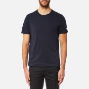 Champion Men's Basic Sleeve Logo Short Sleeve T-Shirt - Navy