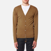 John Smedley Men's Petworth 30 Gauge Merino Cardigan - Camel