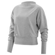 Skins Activewear Women's Wireless Sport Crew Neck Fleece - Silver/Marle