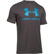 Under Armour Men's Sportstyle Logo T-Shirt - Grey/Blue