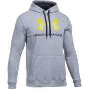 Under Armour Men's Rival Fitted Graphic Hoody - Grey