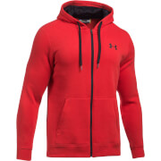 Under Armour Men's Rival Fitted Full Zip Hoody - Red