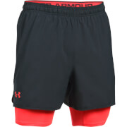 Under Armour Men's Qualifier 2-in-1 Shorts - Black/Red