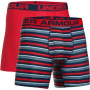 Under Armour Men's 2 Pack Original 6 Inch Boxerjock - Red