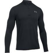 Under Armour Men's Threadborne Fitted 1/4 Zip Long Sleeve Top - Black