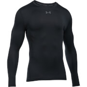 Under Armour Men's Striped Compression Long Sleeve Crew Top - Black