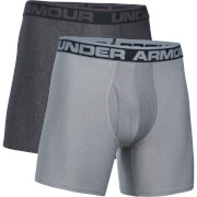Under Armour Men's 2 Pack Original Series 6 Inch Boxerjock - Dark Grey