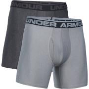 Under Armour Men's 2 Pack Original Series 6 Inch Boxerjock - Dark Grey