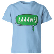 Dinosaur Rawr! Kids Light Blue T-Shirt
