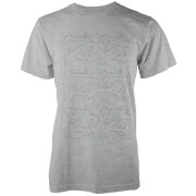 Origami Dinosaur All Over Grey T-Shirt