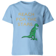 Dinosaur Reach For The Stars Kid's Light Blue T-Shirt
