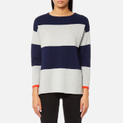 Joules Women's Uma Milano Stripe Knitted Jumper - French Navy