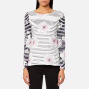 Joules Women's Harbour Print Jersey Top - Cream Peony Stripe