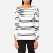 Joules Women's Harbour Jersey Top - Cream Navy Stripe