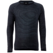Jack & Jones Men's Core Wind Rib Knitted Jumper - Sky Captain
