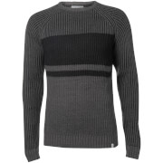 Jack & Jones Core Men's Seattle Block Fisherman Jumper - Grey