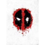 Marvel Comics Metal Poster - Deadpool Spray Tag (32 x 45cm)