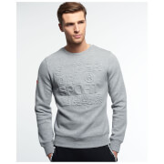 Superdry Men's Gym Tech Embossed Crew Sweatshirt - Grey Grit