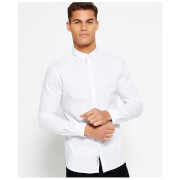 Superdry Men's Tailored Slim Fit Long Sleeve Shirt - Optic White