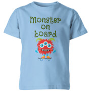 My Little Rascal Monster On Board Kids' T-Shirt - Light Blue