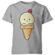 How To Cook That Kawaii Ice Cream Kids' T-Shirt - Grey