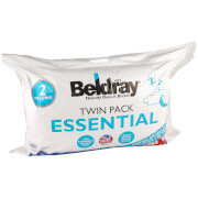 Beldray Essentials Twin Pack Pillows - White