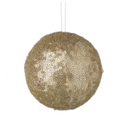 Parlane Sequin Hanging Decoration (10 x 10cm) - Gold Bauble