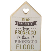 Parlane Prosecco Wooden Decorative Sign (18 x 11cm) - Cream