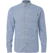 Jack & Jones Originals Mutough Printed Long Sleeve Shirt - Cashmere Blue