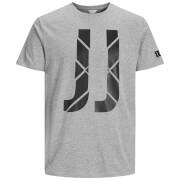Jack & Jones Men's Core Pixel T-Shirt - Light Grey Marl