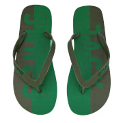 Jack & Jones Men's Logo Flip Flops - Amazon/Rifle Green