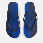 Jack & Jones Men's Logo Flip Flops - Turkish Sea/Navy Blazer