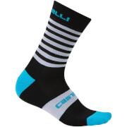 Castelli Gregge 15 Socks - Black/Sky Blue