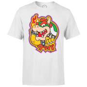 Nintendo Super Mario Bowser Kanji Men's White T-Shirt