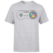 Nintendo SNES Controller Pad Men's Grey T-Shirt