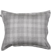GANT Home Flannel Check Pillowcase - Grey - 50 x 75cm