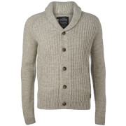 Threadbare Men's Danvers Cardigan - Ecru/Light Grey Marl