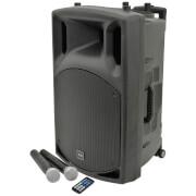 QTX QX15PA Portable Bluetooth PA System - Black (USB/SD/FM/15 Inch Driver)