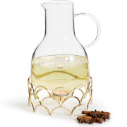 Sagaform Mulled Wine Jug with Gold Warmer (1.2L)