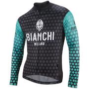 Bianchi Petroso Long Sleeve Jersey - Black/Celeste