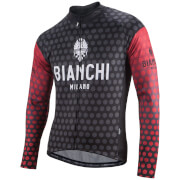 Bianchi Petroso Long Sleeve Jersey - Black/Red