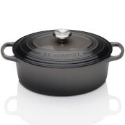 Le Creuset Signature Cast Iron Oval Casserole Dish - 23cm - Flint